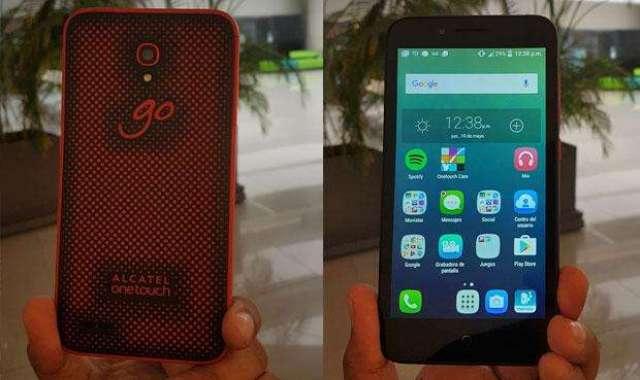 celular moto G1 y Alcatel Go Play