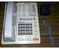 Teléfono Fijo PANASONIC KX-T3250 de DOBLE línea con Cargador PANASONIC KX-A09 e I...