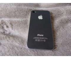 Tapa de iphone 4s negra