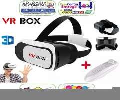 Gafas 3D VR BOX 2da. Generación Realidad Virtual Control Juegos Bluetooth, Nuevas, Origi...