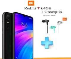 Redmi 7 64GB  Audifonos XIAOMI TIENDA FISICA, Nuevo y original SE ENTREGA CON FACTURA LEGAL