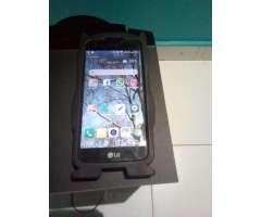 LG K4 con microSD de 32GB, vidrio templado, protector animado y cable USB