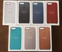Funda Silicone Case Leather Cuero Celular iPhone 7/8 Plus Forro Domicilio Bogotá