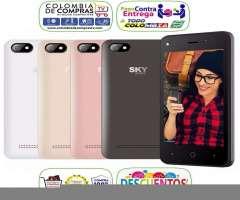 Smartphone 4G SKY Platinum 4.0 QuadCore DualCam 5Mpx DD 4GB DualSim Bluetooth Android 6 Nuevos ...