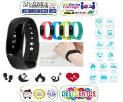 Brazalete Pulsera Reloj Inteligente Bluetooth, Monitor Cardiaco, Smart Watch, Colors, Nuevas, G...