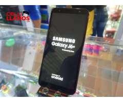 SAMSUNG J6 PLUS EXCELENTE ESTADO (HUELLADESBLOQUEO FACIAL 32GB3RAM18MP8MP)