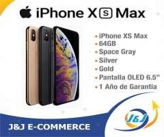 *** NUEVO SELLADO IPHONE XS MAX DE 64GB ESTRENAR 1 AÑO DE GARANTIA BITCOI...