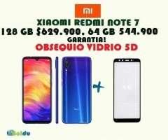 XIAOMI  NOTE 7 128 GB, 64 GB , OBSEQUIO VIDRIO 5D, NUEVOS, FACTURA, GARANTÍA, TIENDA F&I...