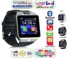 Reloj Inteligente Tipo Gear 2 Homologado Smartwatch Cámara, SimCard, microSD, Bluetooth,...