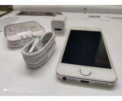 iPhone 5s de 16gb color blanco